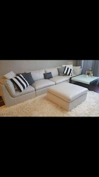 white and black sectional couch Prospect Heights, 60070