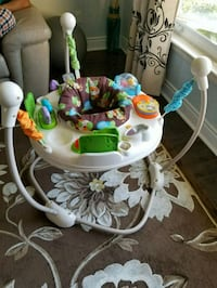 baby's white and green Fisher-Price jumperoo Toronto, M4A 1T5