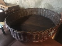 Wicker basket with handles , top quality beautiful for arrangements or gift collection basket or even a cool pet day bed!! Edmonton, T5R