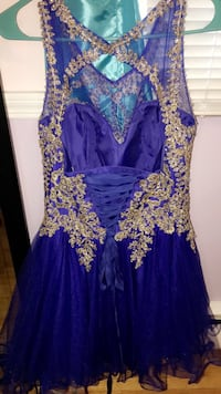 women's blue and gold floral dress Amherst, 14221
