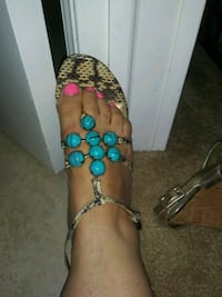 Nina sandals with rhinestone blue Dearborn Heights, 48127