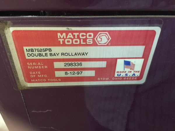 Purple matco tool chest