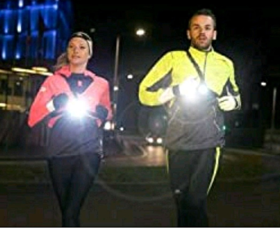 Outdoor Night Running Lights LED Chest Run Light with USB Charge for Camping Jogging Hiking Running Outdoor Adventure