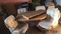 dinning room set with four padded captans chairs Spokane, 99207