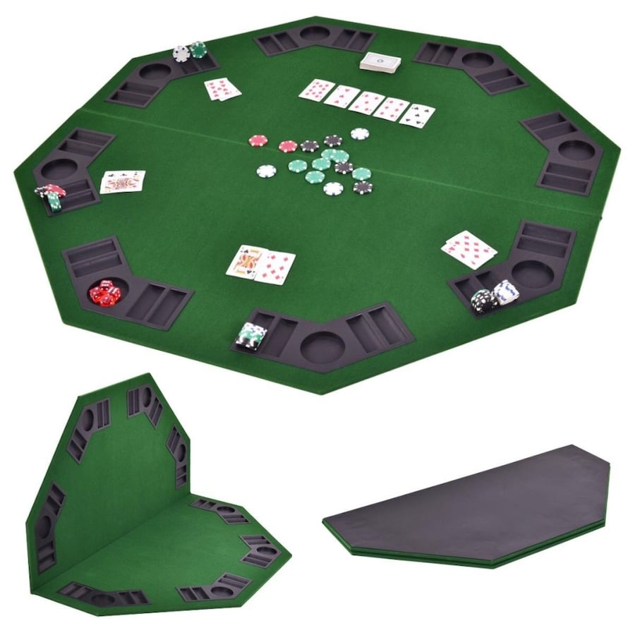 Poker table top and chips