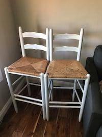 two white wooden framed padded chairs Millbrae, 94030