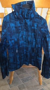 Blue and black bench zip-up jacket