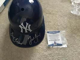 Josh Breaux Signed Baseball Helmet