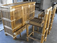 Brand new bamboo bar and two chairs Spring, 77379