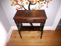 brown wooden single-drawer end table Windsor, N9G 1X6