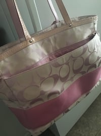 Virtually brand new coach diaper bag bought for carry-on luggage for one trip never used again no marks paid 160 will sell for 75 Langley