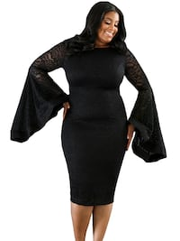 2xl large xlarge lace goth plus formal Victorian wedding party cocktail midi dress gown
