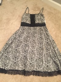 Black-and-white ornate spaghetti strap midi dress Owings Mills, 21117