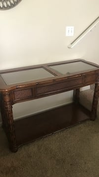 brown wooden framed glass top table Grand Rapids, 49525