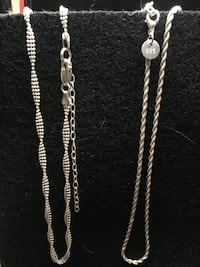 Ladies stamped sterling silver necklaces Innisfail, T4G