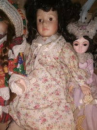 doll in pink and white floral dress Dundalk, 21222