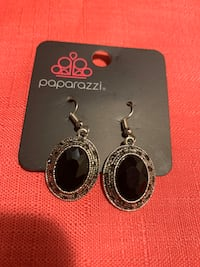 Silver and black dangle earrings  Gaithersburg, 20877