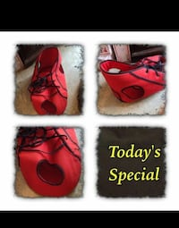 red & black shoe for cats