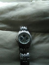 round silver chronograph watch with link bracelet Redding, 96001