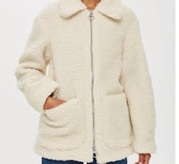 Brand new size small teady coat top shop