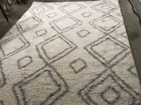 White and grey  area rug Mc Lean, 22101