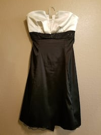 women's white and black strapless dress Sacramento, 95833