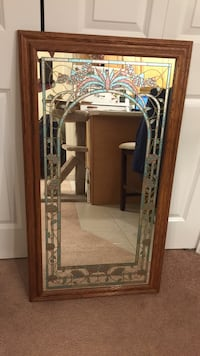 Vintage wood framed mirror Hampton, 03842