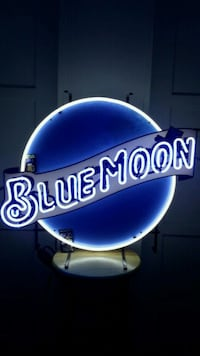 BLUE MOON NEON SIGN.  Los Angeles, 90047