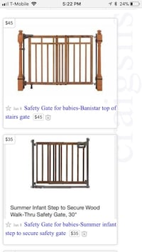 Brown wooden safety gate screenshot Lorton, 22079