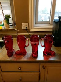 4 molson canadian beer boot mugs Kitchener, N2E 3T3