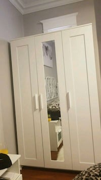 white wooden wardrobe with mirror Toronto, M6H 3X1