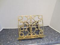Vintage Solid Brass Book table Top Holder Stand