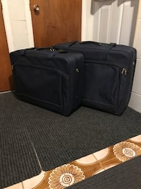 2 luggage - navy blue - used once