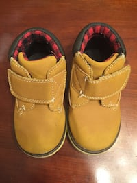 toddler's brown mid-top shoes