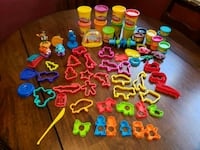 Play-doh cutters and accessories