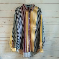 Vintage Tommy Hilfiger Striped Button Down Shirt XL Noblesville