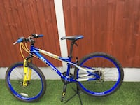 blue and white hardtail mountain bike Manchester, M9 8AT