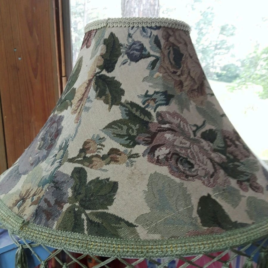 Stitched Cloth Lamp Shade