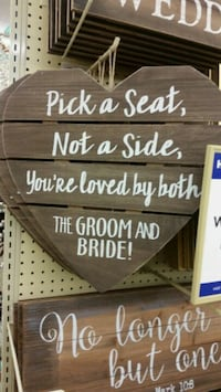 Wedding seating sign  Modesto, 95355