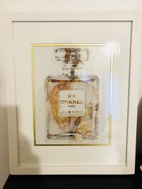 Chanel Parfum Print Art - white frame - 15.5 by 12 inches Toronto