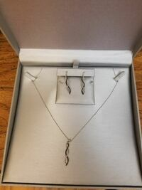 Necklace and earring set from Zales.