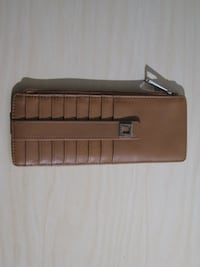 LODIS audrey brown leather credit card case wallet with zipper Vancouver