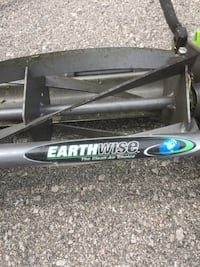 Black and grey earthwise reel mower Bolton
