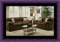 Chocolate fabric sofa and loveseat Upper Marlboro, 20772