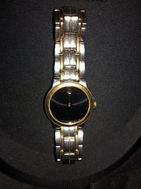 Movado Mens Gold & Silver Quartz Watch 44 km