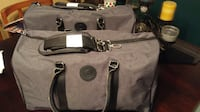 New Weekender Bag Charcoal Grey with Handles and Shoulder Straps Edmonton