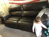 Brown leather couch and recliner  Murfreesboro, 37130