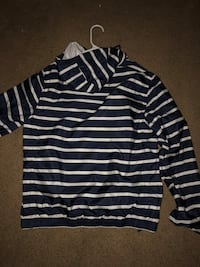 Navy blue and white striped Tommy Hilfiger zip-up windbreaker Downey, 90241