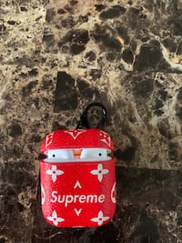 Supreme AirPod case red with clip  Toronto, M4C 5N1