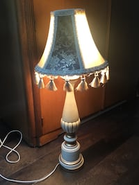 Vintage lamp with new shade!